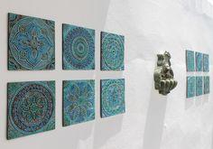 12 Ceramic tiles (30cm each) - gvega