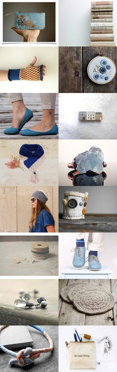 Natural blue by Monica on Etsy