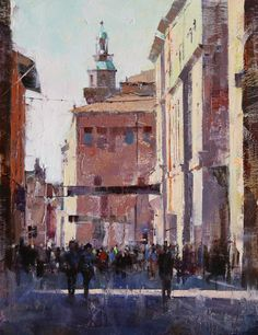 T-Day in Bologna Original art painting by Qiang Huang - DailyPainters.com