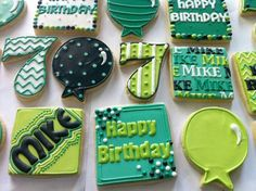 Love these birthday cookies, especially as we have a Mike in the family!
