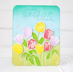 """212 Likes, 4 Comments - Sunny Studio Stamps (@sunnystudiostamps) on Instagram: """"Check out this gorgeous tulip garden card from @lexalevana, featuring our Timeless Tulips stamp…"""""""