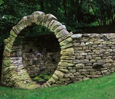 beautiful dry stone masonry