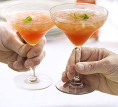 A sophisticated dinner party cocktail with a crisp cranberry kick, from Good Food Magazine. New Years Cocktails, Summer Cocktails, Cocktail Drinks, Fun Drinks, Yummy Drinks, Cocktail Recipes, Beverages, Winter Drinks, Drink Recipes