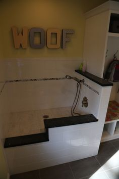 Laundry Mudroom With A Dog Wash Station Someday House