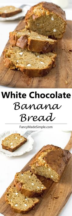 White Chocolate Banana Bread is the perfect dessert recipe. It is perfectly…