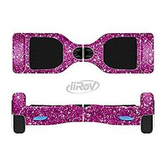 Amazon.com : The Bright Pink Glitter Full-Body Wrap Skin Kit for the iiRov HoverBoards and other Scooter (HOVERBOARD NOT INCLUDED) : Sports & Outdoors