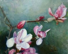 Spring Magnolia's, painting by artist Donna Pomponio