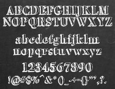 free chalkboard font alphabet | chalkboard fonts | iwork3 | alex chong