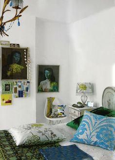 Home of Liza Giles, senior stylist for Tricia Guild of Designers Guild.