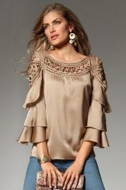 Absolutely love this taupe top!!!  Boston Proper Salsa shirt in mushroom