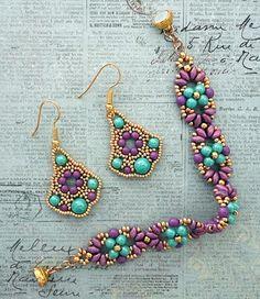 Linda's Crafty Inspirations: Bracelet of the Day: Eclipse Bracelet - Turquoise & Purple