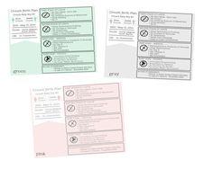 Printable Customized Birth Plan Info-Graphic by ErinCrouchStudio