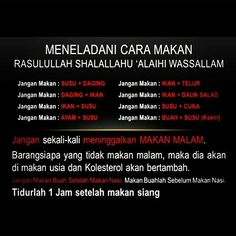 Way rasulullah s.w eat. Islamic Qoutes, Islamic Messages, Muslim Quotes, Religious Quotes, Reminder Quotes, Self Reminder, Words Quotes, Life Quotes, Hijrah Islam