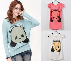 Panda Bear Top❤korean Japan Korea Sweater Fashion Women Dress Casual