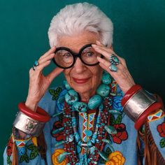 iris by bill cunningham - And they say you should tone it down when you get older. Pah!