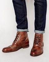 men's boots lace up with cuffed jeans asos | MEN'S SHARPEST NEW STYLES FOR WEARING BOOTS | www.DivineStyle.co