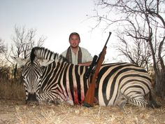 and he shot a Zebra ...  that must've been HARD!