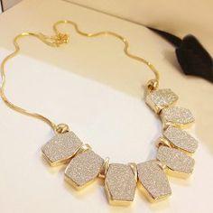 $6.69 Elegant Style Embellished Flash Rhombus Pendants Women's Necklace