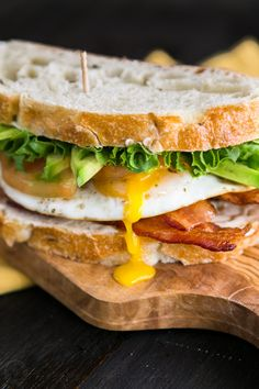 This breakfast BLT Sandwich Recipe is over-the- top in the best way. We added an egg to this breakfast BLT and topped with avocado. Perfect combination.
