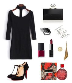 """Sexy Night"" by jia-huii-elio on Polyvore featuring Christian Louboutin, Charlotte Olympia, Topshop, Tory Burch, NARS Cosmetics and Jimmy Choo"