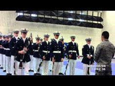 Armed Exhibiton Bellevue West Men's Drill Team at Abraham Lincoln High School - YouTube