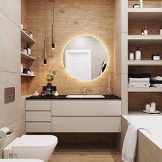 Small Bathroom Interior, Bathroom Wall, Master Bathroom, Washroom Design, Modern Bathroom Design, Modern Powder Rooms, Shower Remodel, New Home Designs, Contemporary Bathrooms