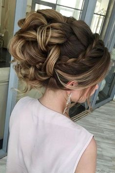 Braid with messy updo