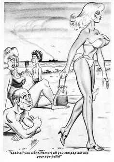 Cartoons by the inimitable Bill Ward. The printed cartoons are from CARTOON PARADE, and are courtesy of scanner par excellence , Dave Miller. Adult Cartoons, Sexy Cartoons, Adult Humor, Vintage Comics, Vintage Humor, Girl Artist, Art Girl, Cartoon Jokes, Cartoon Art