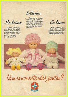 Bonecas Lolipop, Bambina e Sapeca #nostalgia