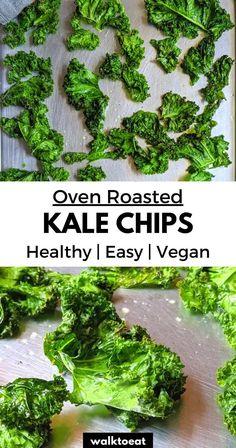 Baked Kale Chips, Kale Chips Oven, Healthy Kale Chips, Roasted Kale Chips, Cheesy Kale Chips, Homemade Kale Chips, Potato Chips, Roasted Kale Recipes, Kale Soup Recipes