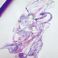 Tokiya and Hayato Uta No Prince Sama, The Shining, Anime Sketch, Anime Art, Sketches, Fan Art, Manga, Drawings, Illustration
