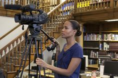 Camerawoman Marie Sengonzi