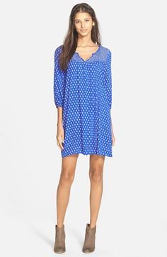 EVERLY Paisley Print Shift Dress (Online Only) available at #Nordstrom