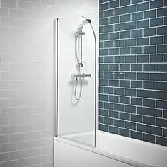 Order online at Screwfix.com. Slimline glass bath screen with simple design and classic shape. Toughened safety glass and adjustable profile. Fits standard flat-edged baths and includes a high quality seal for use between screen and bath. A great addition to any bathroom. FREE next day delivery available, free collection in 5 minutes.