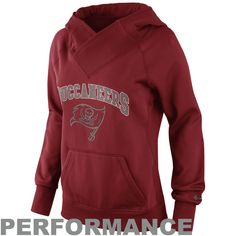 Tampa Bay Buccaneers Historic Logo Nike Women's Wildcard All-Time Performance Hoodie - Red - $34.99