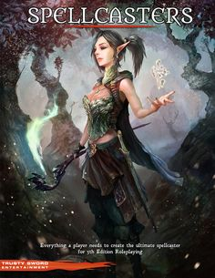 Spellcasters by trustysword (example book cover for RPG Bard) | Create your own roleplaying game material w/ RPG Bard: www.rpgbard.com | Dungeons and Dragons DND D&D Pathfinder PFRPG Warhammer 40k Fantasy Roleplay WFRP Star Wars Exalted World of Darkness Dragon Age Iron Kingdomes Fate Core System Savage Worlds Shadowrun Call of Cthulhu Dungeon Crawl Classics Traveller Battletech The One Ring Lord of the Rings LoTR d20 OGL fantasy science fiction scifi horror | Trusty Sword