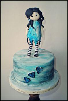 Gorjuss Cake inspired by artists suzanne woolcott