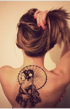 Geisha Tattoo Designs on back