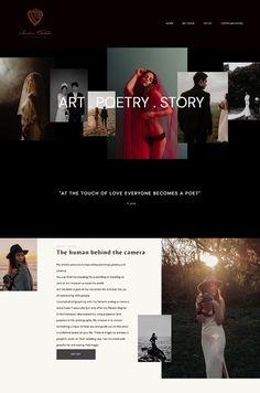 Fashion Blog Names, Web Design Tips, Ui Design, Graphic Design, Photography Website Design, Website Layout, Website Ideas, Blog Websites, Creer Un Site Web