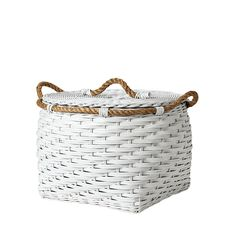 Rope Bin Collection - White | Serena & Lily