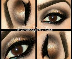 Holiday Smokey Glitter Eyes That is really pretty, but looks like a lot of makeup.