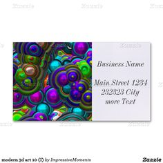 modern art 10 (I) Double-Sided Standard Business Cards (Pack Of Modern Business Cards, Make Your Own, Promotion, Articles, 3d, Paper, Prints, Do It Yourself, Printmaking