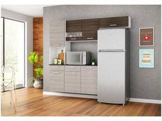 Cozinha Compacta Poliman Móveis Ana 5 Portas - 1 Gaveta + Balcão com Tampo 2 Portas 1 Gaveta com as melhores condições você encontra no Magazine Allevato. Confira!