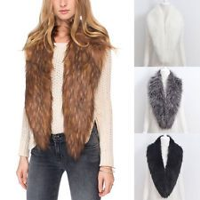 Winter fox Faux Fur Collar Scarf Shawl Collar Women's Wrap Stole Scarves Shrug