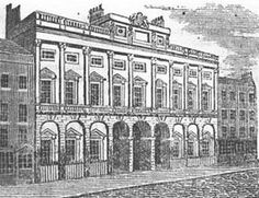 Somerset House,London,UK.                                    From:  1813     Picture of London, Fourteenth edition. Published by Longman, Hurst, Rees, Orme, and Brown.                                                    via Google Books     (PD-150)    suzilove.com
