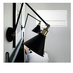 on sale at reasonable prices, buy Base Retro Loft Industrial LED Modern Wall Lamp light Wall Sconce Adjustable Handle Metal Rustic Loft Light Sconce Fixtures from mobile site on Aliexpress Now! Bedside Wall Lights, Indoor Wall Lights, Swing Arm Wall Sconce, Bedside Lighting, Wall Sconce Lighting, Bedside Lamp, Swing Arm Wall Light, Chandelier Lighting, Lighting Store