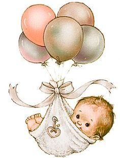new ideas baby cards vintage children Baby Images, Baby Pictures, Cute Pictures, Beautiful Pictures, Clipart Baby, Shower Bebe, Baby Shower, Storch Baby, Baby Illustration