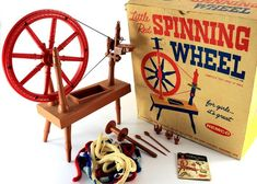 1961 Little Red Spinning Wheel  Remco 819 by ShopVintageGifts, $48.99. I got this for Xmas from Santa...thx dear Santa for a great memory!