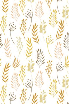 Honey mustard botanical floral seamless pattern vector collection.