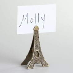 Another place card holder, with a different design. Furniture Sofa Set, Living Room Furniture, Shopping World, Affordable Furniture, World Market, Gift List, Modern Rustic, Tablescapes, Eiffel Towers